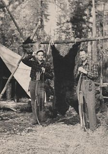 Fred Bear American bow hunter, bow manufacturer, author, and television host