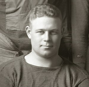 Fred Rehor - Rehor cropped from the 1916 Michigan team portrait