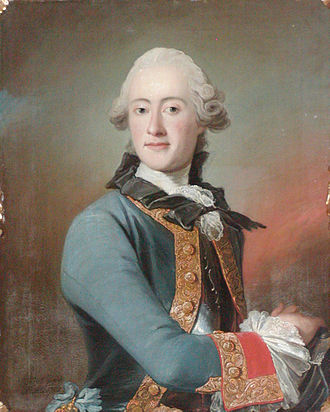 Peder Als - Portrait by Als of Frederik Christian Kaas, Danish admiral