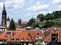 Freiburger Münster und Schwabentor mit Greiffeneggschlössle vom Wasserschlössle gesehen.jpg