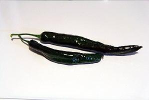 Pasilla - Fresh dark brown chilaca peppers