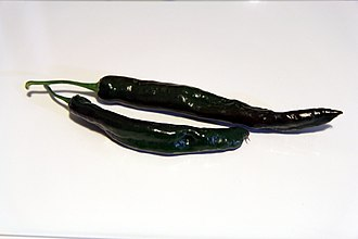Pasilla - Fresh dark brown chilaca peppers