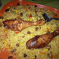 Fried rice with gizzard cuts and chicken.jpg