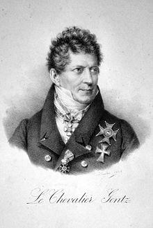 Friedrich von Gentz war ein langjähriger enger Berater und Freund Metternichs. (Quelle: Wikimedia)