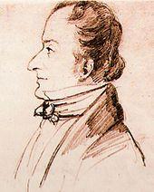 Friedrich Wieck, um 1838, Zeichnung der Sängerin Pauline Viardot-Garcia (Quelle: Wikimedia)