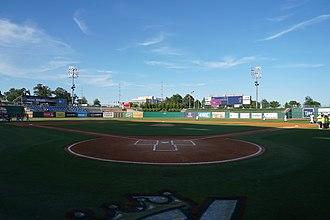 Arvest Ballpark - Image: Frisco Rough Riders vs. Northwest Arkansas Naturals May 2017 05