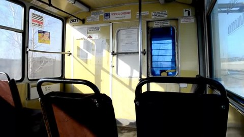 Файл:Front interior of KTM-8 (71-608K) in Chelyabinsk.webm