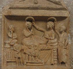 Stèle funéraire de Mènios et Nikopolis