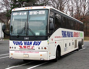 Chinatown bus lines - Fung Wah Bus Van Hool C2045 coach on a stopover