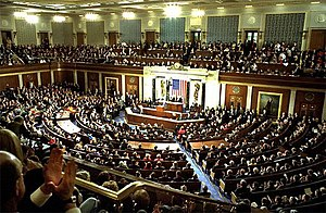 History of the United States House of Representatives -  George W. Bush delivered his annual State of the Union address to a joint session of Congress on January 28, 2003, in the House chamber.