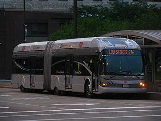 RTA Rapid Transit - Image: GCRTA New Flyer DE60LF BRT