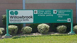 Willowbrook Yard - Sign at the yard entrance