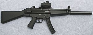 English: GSG-5L semi-automatic rifle in .22 Lo...