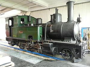 Landquart-Davos G 3/4 - G 3/4 No. 1 inside Landquart locomotive depot.