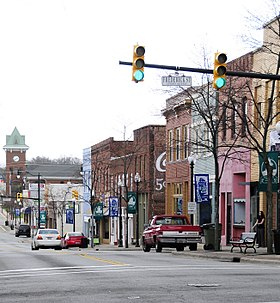 The Gaffney Commercial Historic District is listed on the National Register of Historic Places