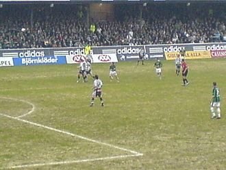 Swedish Football Association - Allsvenskan match between GAIS and Malmö FF in 2006