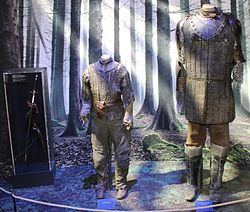 The costumes worn by Arya and her companion Sandor Clegane