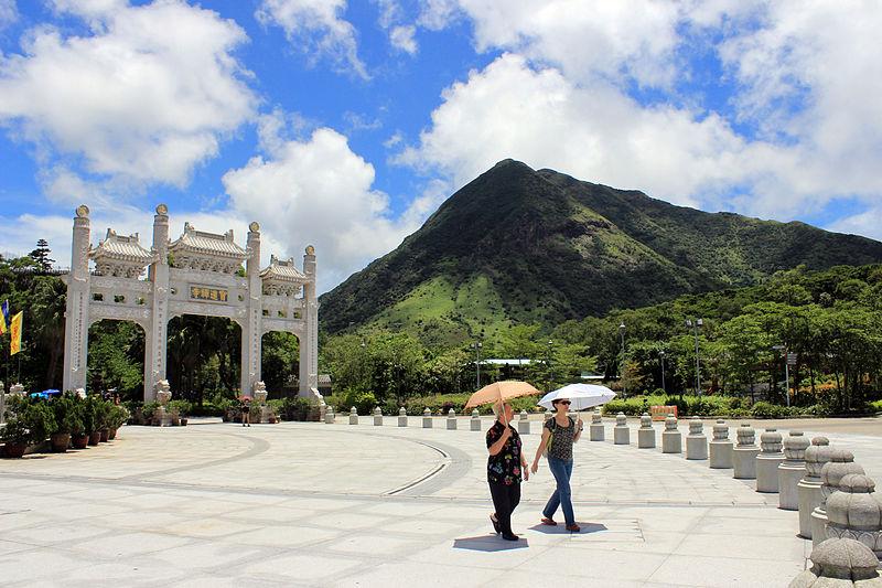 File:Gate and Mount Ngong Ping.JPG