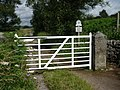Gate and signposts, Longshaw Estate, Derbyshire - geograph.org.uk - 1973634.jpg