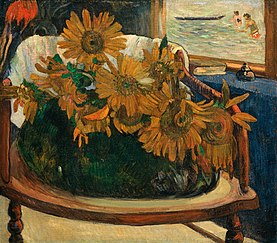 Sunflowers on an Armchair