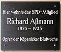 Gedenktafel Aßmannstr 46 (Frierh) Richard Aßmann.jpg