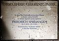 Gedenktafel Kantstr 165 (Charl) Friedrich Spielhagen.jpg