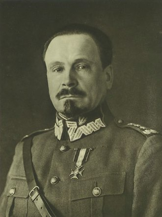Józef Haller - Haller in a Polish uniform