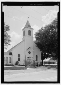 General view looking from the east northeast - St. Augustine Roman Catholic Church, Highway 484, Melrose, Natchitoches Parish, LA HABS LA-1316-2.tif
