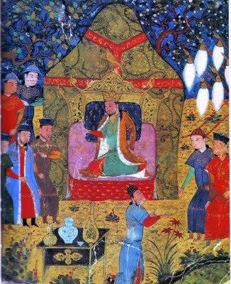 Genghis Khan's enthronement in 1206
