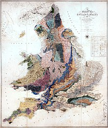 Greenough's Geological map of England & Wales published by the Geological Society 1819