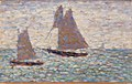 Georges Seurat - Two Sailboats at Grandcamp (Deux voiliers à Grandcamp) - BF1153 - Barnes Foundation.jpg
