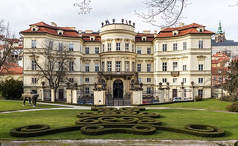 German Embassy, Prague, in the Palais Lobkowitz. Back side with garden