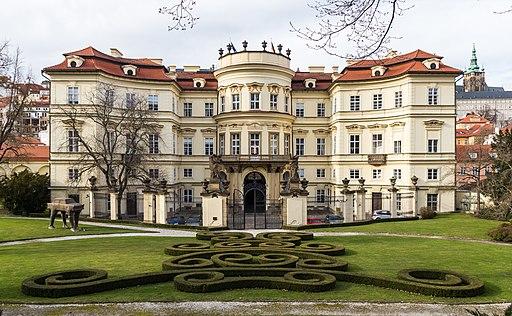 German Embassy, Prague, back side with garden-6587