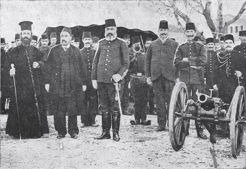 Файл:Germanos Karavangelis and Ottoman officers.jpg
