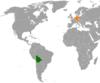 Lage von Deutschland und Bolivien