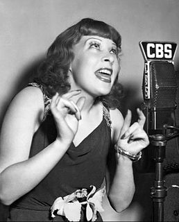 Gertrude Niesen American torch singer, actress, comedian and songwriter