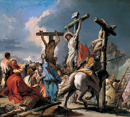 18th-century painting, The Crucifixion, by Giovanni Battista Tiepolo. Giambattista Tiepolo - The Crucifixion.jpg