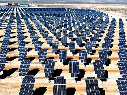 Nellis Solar Power Plant in Nevada, United States Giant photovoltaic array.jpg