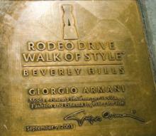 875de59788f Giorgio Armani Honor at the Walk of Style, Beverly Hills