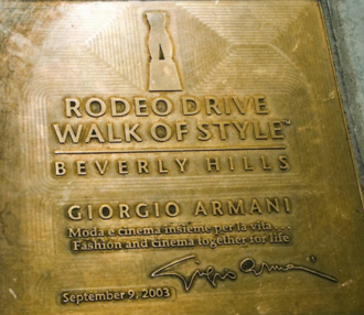 Giorgio Armani - Giorgio Armani Honor at the Walk of Style, Beverly Hills