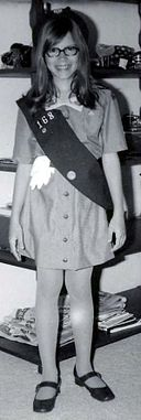 Girl Scout in uniform, 1973