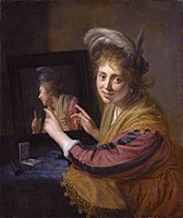 Girl at a mirror, by Paulus Moreelse.jpg