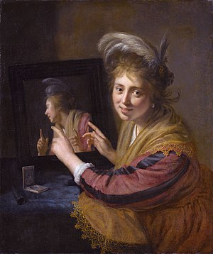 Paulus Moreelse - Girl at a mirror, 1632 (Rijksmuseum, Amsterdam).