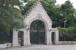 Glencairn House - The front gate of Glencairn House on Murphystown Road, in 2008.
