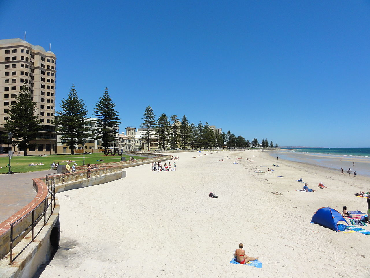 Glenelg Beach in summer