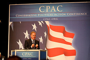 English: Television and radio host at CPAC in .