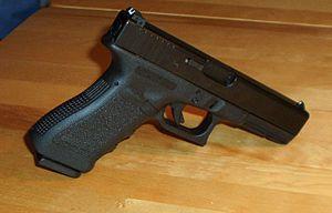 Parkerizing - Glock 17 pistol with a black Parkerized topcoat.