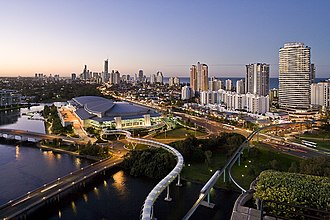 Gold Coast Convention and Exhibition Centre - View from The Star Gold Coast looking north to Surfers Paradise