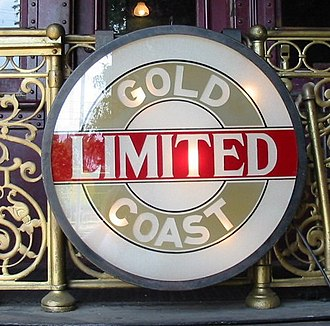 Drumhead (sign) - Image: Gold Coast Limited drumhead