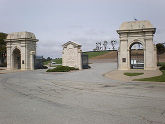 Golden Gate National Cemetery - Main gate in 2008
